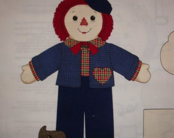 Rusty Rag Doll Fabric Panel - shipping included