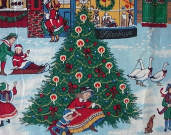Old Christmas Style Fabric - Concord Fabrics by Sharon Kessler (SHIPPING INCLUDED)