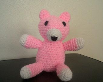 SALE* Crocheted Fox: Stuffed Fox Plush/ Amigurumi  Pink Fox Plushie