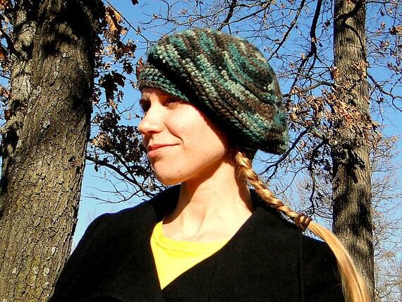 Camo Beret Hat: Beanie Camouflage/ Slouchy Camo Women's Cap