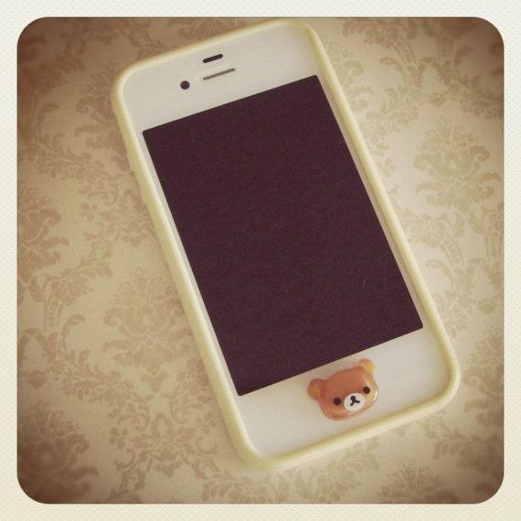Cute Rilakkuma iPhone Home Button