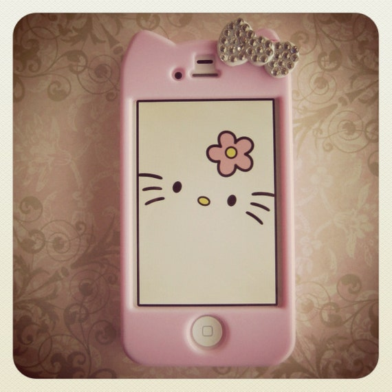 hello kitty iphone case hello kitty iphone 4 4s with swarovski rhinestone 8737