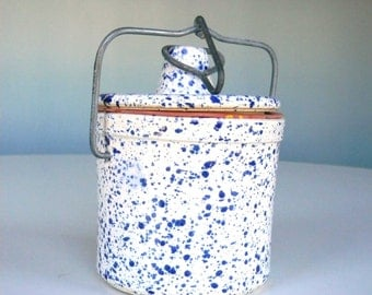 SALE Reco Ceramic Speckled Jar Storage Container with Lid