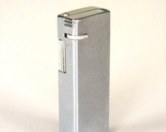 Vintage Pocket Lighter Cigarette Kensington Korea Silver Tone Plain