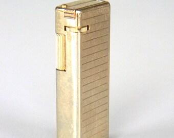 Vintage Pocket Lighter Cigarette Gold Tone NOS