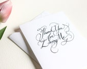 Thank You For Loving Me Greeting Card READY TO SHIP