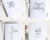 You Pick 6 Greeting Cards READY TO SHIP