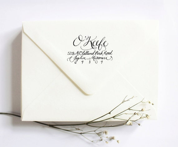 Items Similar To Custom Calligraphy Rubber Stamp Return