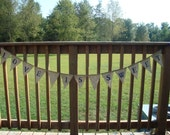 Burlap Bunting Banner Wedding or Party--LOVE IS SWEET