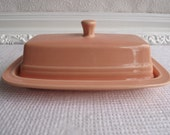 Vintage Homer Laughlin Fiestaware Apricot Covered Butter Dish Circa 1986