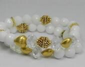white onyx bracelet white onyx onyx white gold bracelet onyx white and gold gold and white bracelet gold crystal gold and crystal bracelet