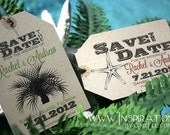 Destination Wedding Save the Dates Luggage Tags