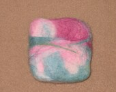 Felted Guest Soap with Teal and Pinks