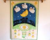 Nursery Wall Hanging Lambs, Sun, Moon