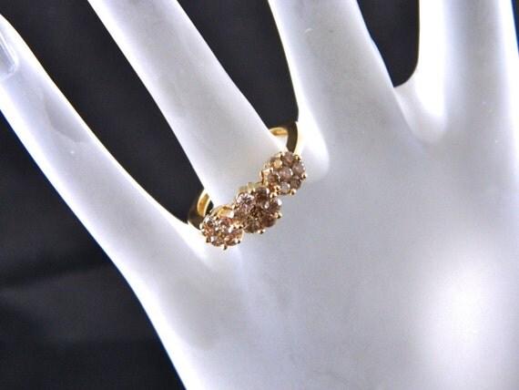 14K  Reserved for Lara Edwards Yellow Gold Diamond Ring Size 7