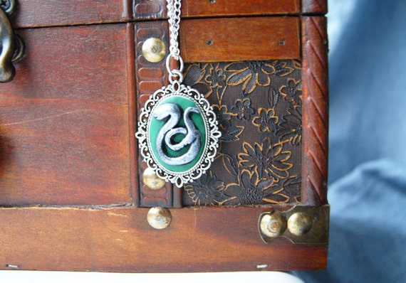 Harry Potter Slytherin Cameo Necklace