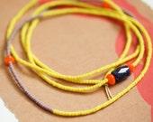 Neon Necklace - Minimalist - Modern - Lapis - Matsuno - Toys in the Attic Collection