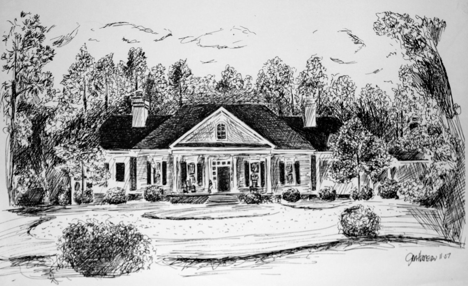 1500 x 918 jpeg 297kB, Old Country House Drawing Custom house drawing