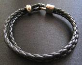 Bottega Leather Unisex Bracelet