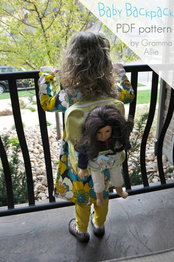 Baby Doll Backpack Pattern (PDF) and material list