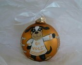 Hand Painted Tennessee  State College glass ball ornament College Football