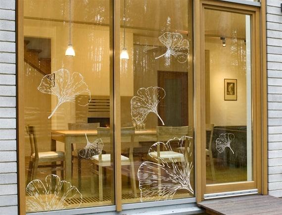 Ginkgo Leaves Wall Decals Wall Stickers Vinyl Wall Decor Glass Declas Sticker Home Decor Housewares