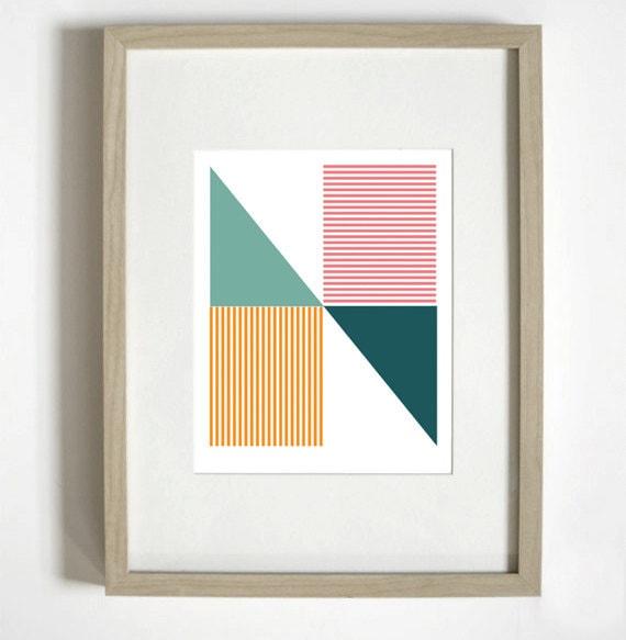 "Geometric ""N"" Typographic Print"