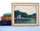 Vintage Oil Landscape Painting