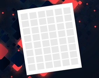 1in Square 8.5x11 Template Digital Collage Sheet Do It Yourself (No Need To Buy Expensive Software) Instant Download