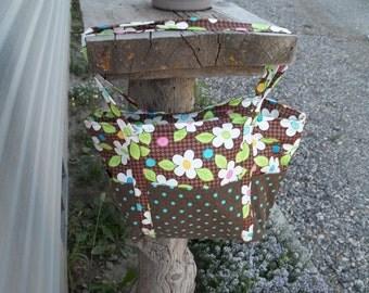 Brown & Bright Floral tote
