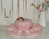 vintage belmar strawberry lazy susan serving set
