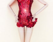 Fashion Royalty Red Sequin Cocktail mini Fashion