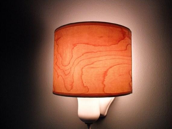 Maple Wood Veneer Shield Shade