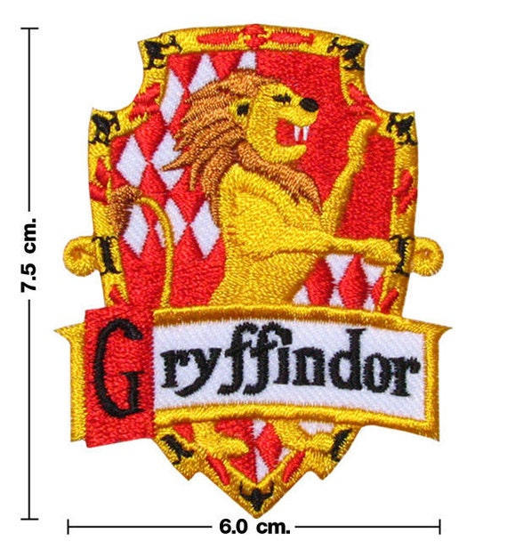 Harry Potter House GRYFFINDOR Crest Iron Patch CODE: FA01