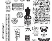 Attic Treasures designed by Tim Holtz, made by Stampers Anonymous, cling rubber stamps - cha2012