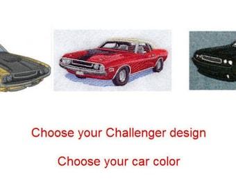 Custom Embroidered Dodge Challenger Denim Shirt S-4XL