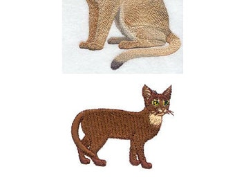 Custom Embroidered Abyssinian Cat Tshirt S-4XL
