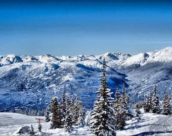 Whistler Olympics Mountains- Fine Art Photography - 8x12  - Canada Rockies Landscape