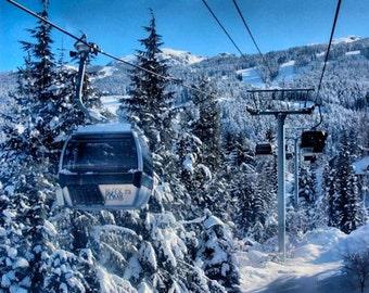 Whistler Mountain Gondola - Fine Art Photography - 8x12  - Canada Rockies Landscape