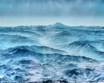 Aerial Mountains Landscape - Fine Art Photography - 8x12  - The Andes, Argentina