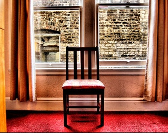 Red Chair Photo - Red Art Picture - FIne Art Photography for Home Decor - 8x12