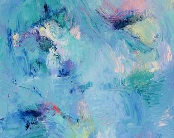Under the Surface- Abstract Expressionistic Impasto Oil Painting