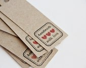 Tags, Handmade with Love tags, Seller tags, Gift tags, Baker Tags, MADE TO ORDER