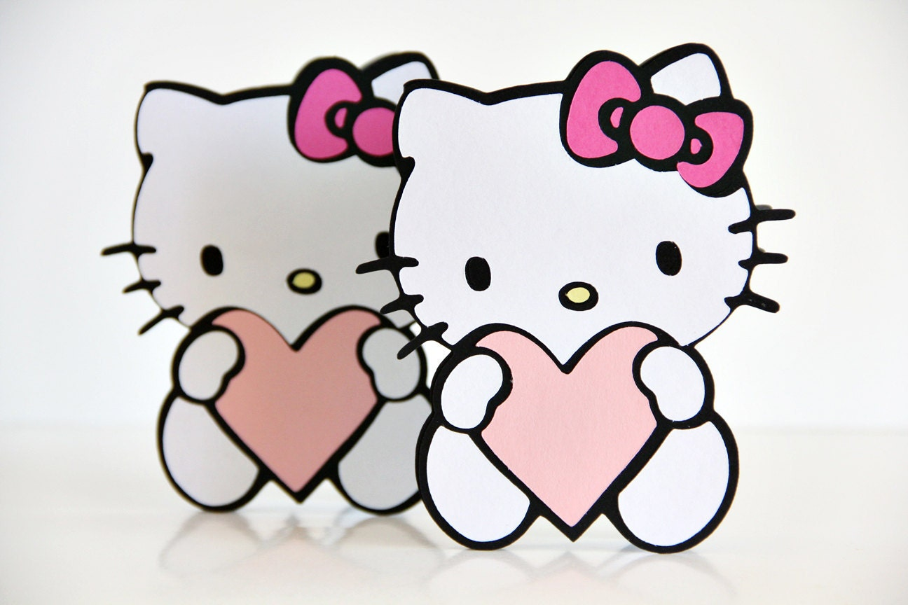 Hello Kitty Valentines Day card MADE TO ORDER