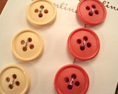 VINTAGE Button Lot Berries and Cream New on Card