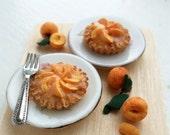 Peach Tarts 1/12 Scale Dollhouse Miniature Food
