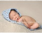 Newborn Photo Prop - Newborn Pixie Hat - Boy Girl Props - Crochet Vintage Inspired Bonnet - Yellow Straw (The Puffer)