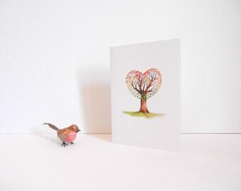 """greetings card: """"love grows"""""""