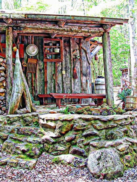 "Wishing Well / Appalachian Folk Art / Primitive /Nature/ Blue Ridge Mountains/ Art Photograph / Color Print / 5"" x 7 "" print matted to 8x10"
