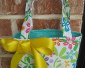 Beautiful Bright Floral and Butterfly Print Purse